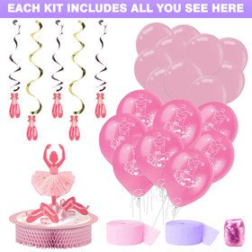 Ballerina Party Decoration Kit