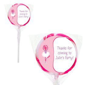 "Ballerina Personalized 2"" Lollipops (20 Pack)"