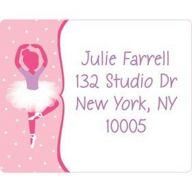 Ballerina Personalized Address Labels (sheet of 15)
