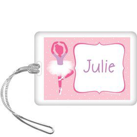 Ballerina Personalized Bag Tag (each)