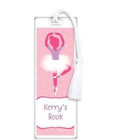 Ballerina Personalized Bookmark (each)