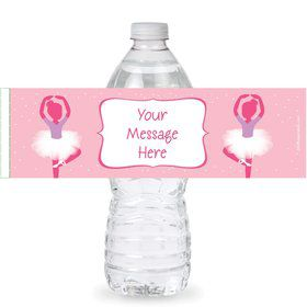 Ballerina Personalized Bottle Labels (Sheet of 4)