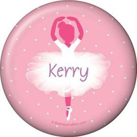 Ballerina Personalized Button (each)