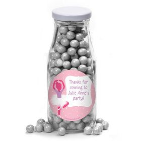 Ballerina Personalized Glass Milk Bottles (12 Count)