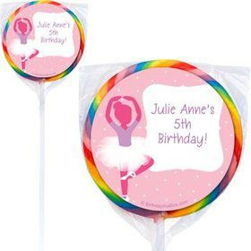 Ballerina Personalized Lollipops (pack of 12)