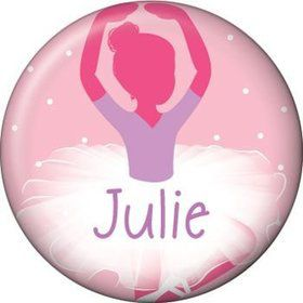 Ballerina Personalized Mini Button (each)
