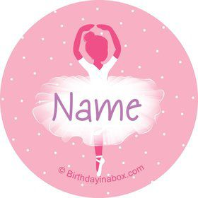 Ballerina Personalized Mini Stickers (Sheet of 24)