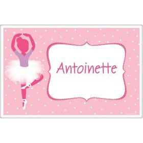 Ballerina Personalized Placemat (each)