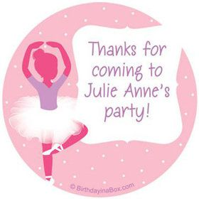 Ballerina Personalized Stickers (sheet of 12)