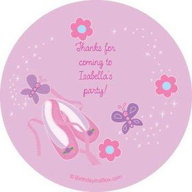 Ballet Personalized Stickers (sheet of 12)
