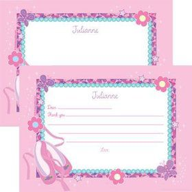 Ballet Personalized Thank You Note (each)