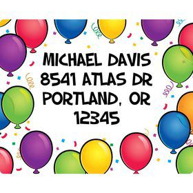 Balloon Fun Address Labels (Sheet Of 15)