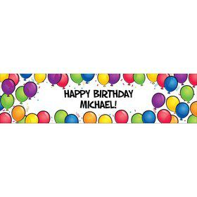 Balloon Fun Personalized Banner (Each)