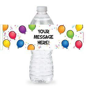 Balloon Fun Personalized Bottle Labels (Sheet of 4)