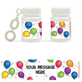 Balloon Fun Personalized Bubbles (18 Pack)