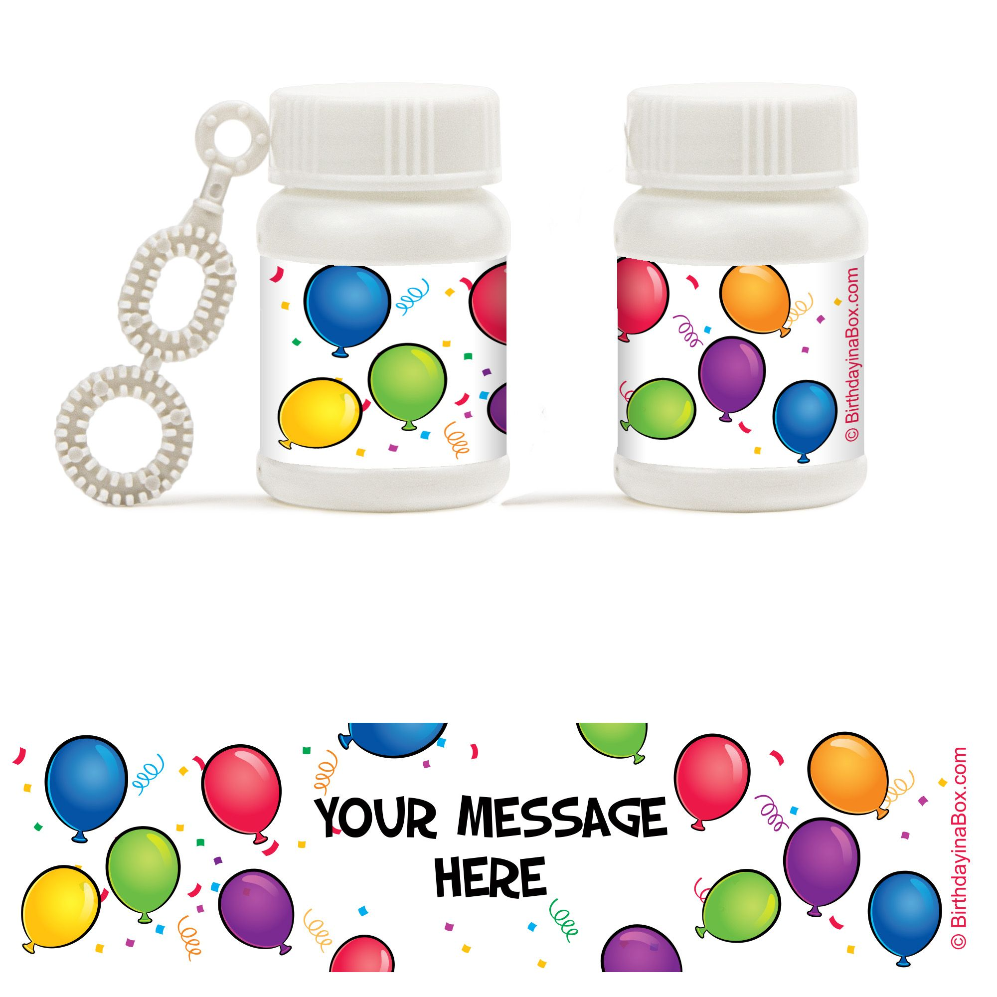 Balloon Fun Personalized Bubbles (18 Pack) - Party Supplies BB700171BB