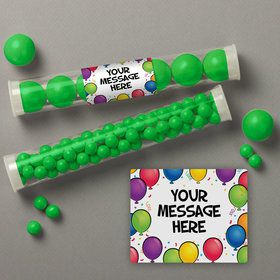 Balloon Fun Personalized Candy Tubes (12 Count)