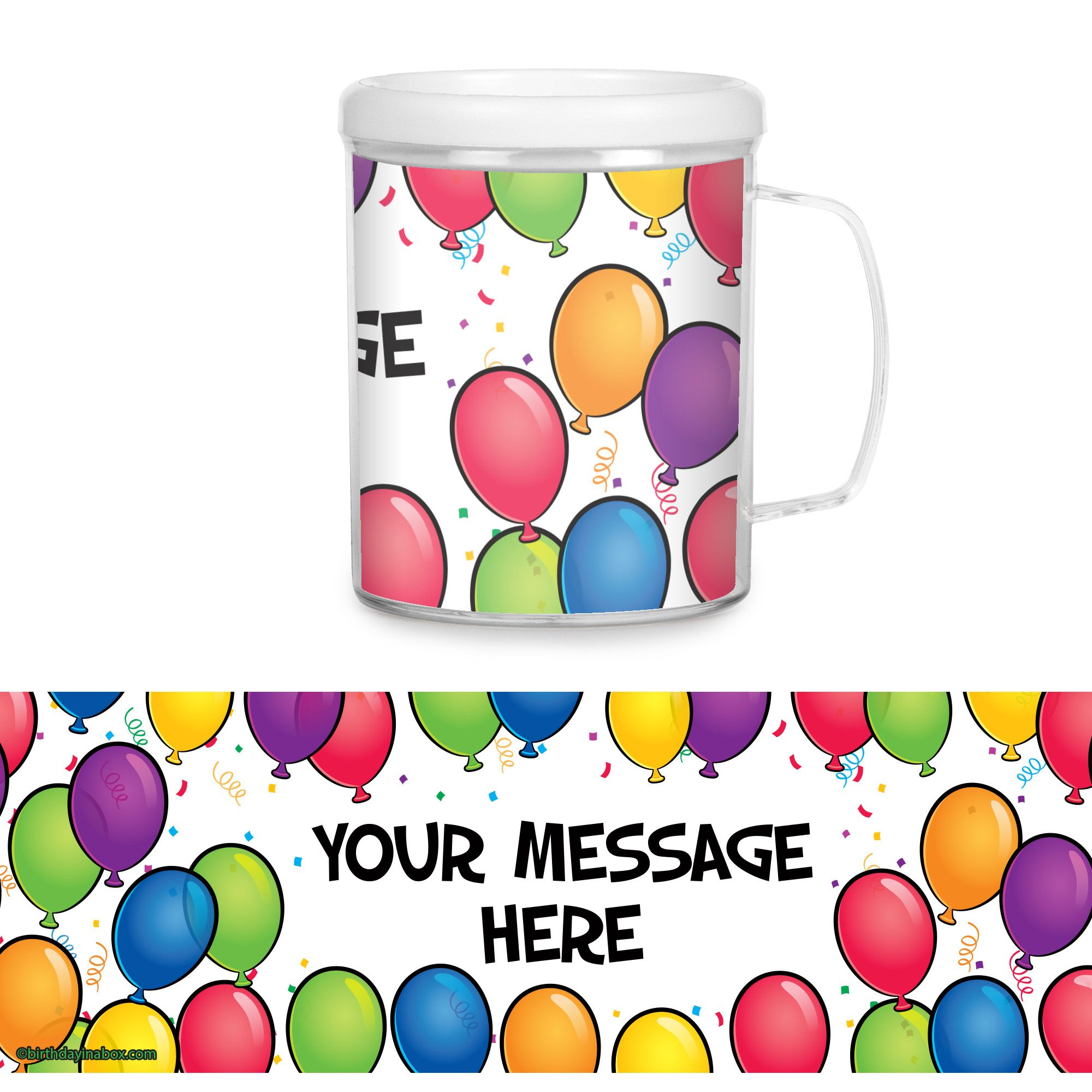 Balloon Fun Personalized Favor Mugs (Each) - Party Supplies BB700171CUP