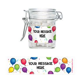 Balloon Fun Personalized Glass Apothecary Jars (10 Count)