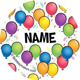 Balloon Fun Personalized Mini Stickers (Sheet of 24)