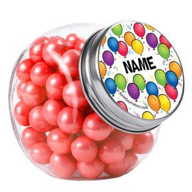 Balloon Fun Personalized Plain Glass Jars (10 Count)