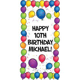 Balloons Personalized Oversized Banner 30x60