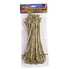 "Bamboo Tropical Luau 7"" Drink Stirrers"