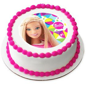 "Barbie Sparkle 7.5"" Round Edible Cake Topper (Each)"