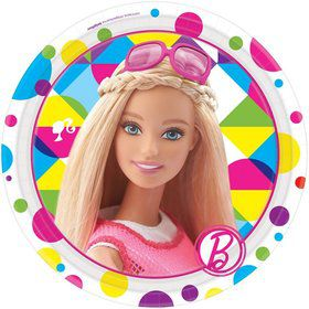 "Barbie Sparkle 7"" Cake Plates (8 Pack)"