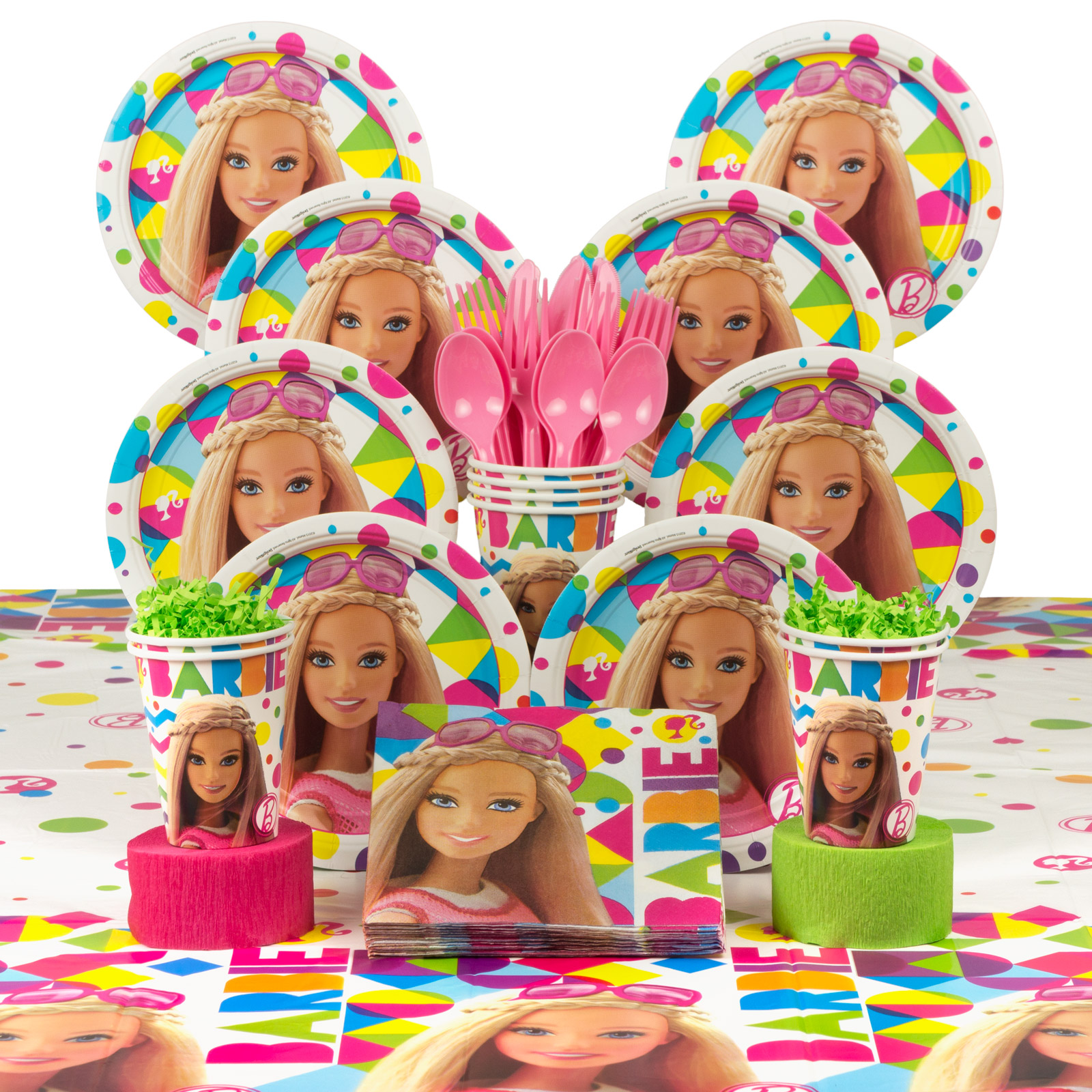 Barbie Sparkle Birthday Party Deluxe Tableware Kit (Serves 8) BBKIT1010A