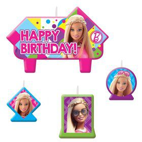 Barbie Sparkle Candle Set (4 Pack)