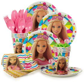 Barbie Sparkle Standard Birthday Party Tableware Kit (Serves 8)