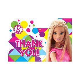 Barbie Sparkle Thank You Notes (8 Pack)
