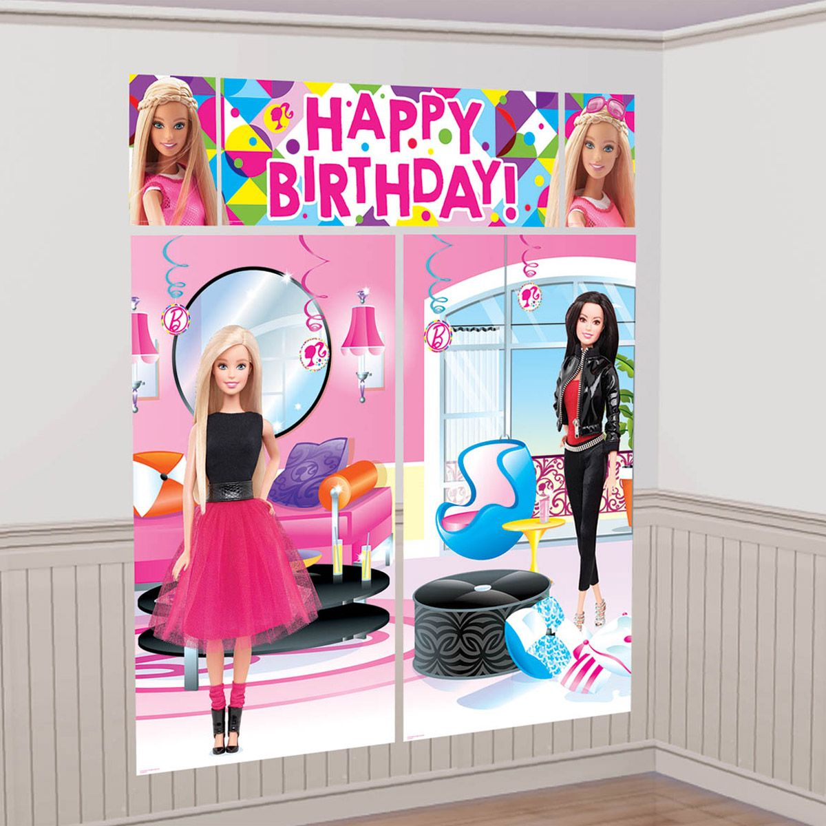 Barbie Sparkle Wall Decorating Kit - Party Supplies