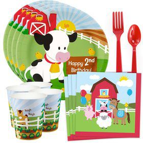 Barnyard 2nd Birthday Standard Tableware Kit (Serves 8)