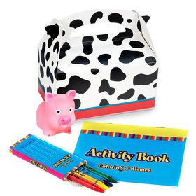 Barnyard Birthday Favor Box (4-Pack)