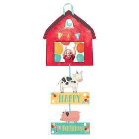 Barnyard Birthday Photo Sign