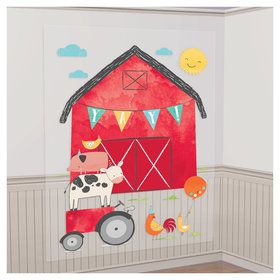 Barnyard Birthday Scene Setters Decorating Kit