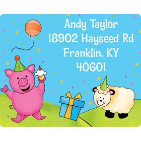 Barnyard Personalized Address Labels (Sheet of 15)