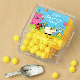 Barnyard Personalized Candy Bin with Candy Scoop (10 Count)