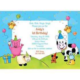 Barnyard Personalized Invitation (each)