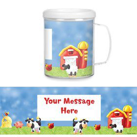 Barnyard Plastic Personalized Favor Mugs (Each)