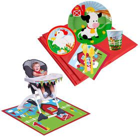 Barnyard Tableware High Chair Kit