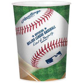 Baseball 16oz Plastic Favor Cup (Each)