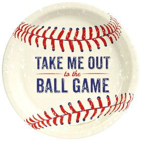 "Baseball 9"" Luncheon Plate (8 Count)"