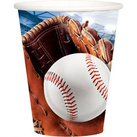 Baseball 9oz Cups (8)