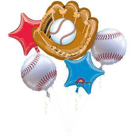 Baseball Balloon Bouquet (5 pack)
