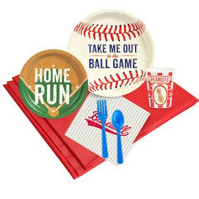 Baseball Birthday Party Deluxe Tableware Kit Serves 8