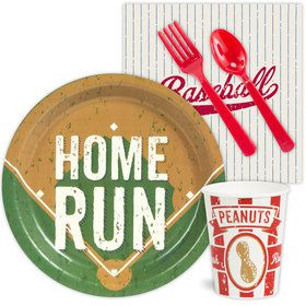 Baseball Birthday Party Standard Tableware Kit Serves 8