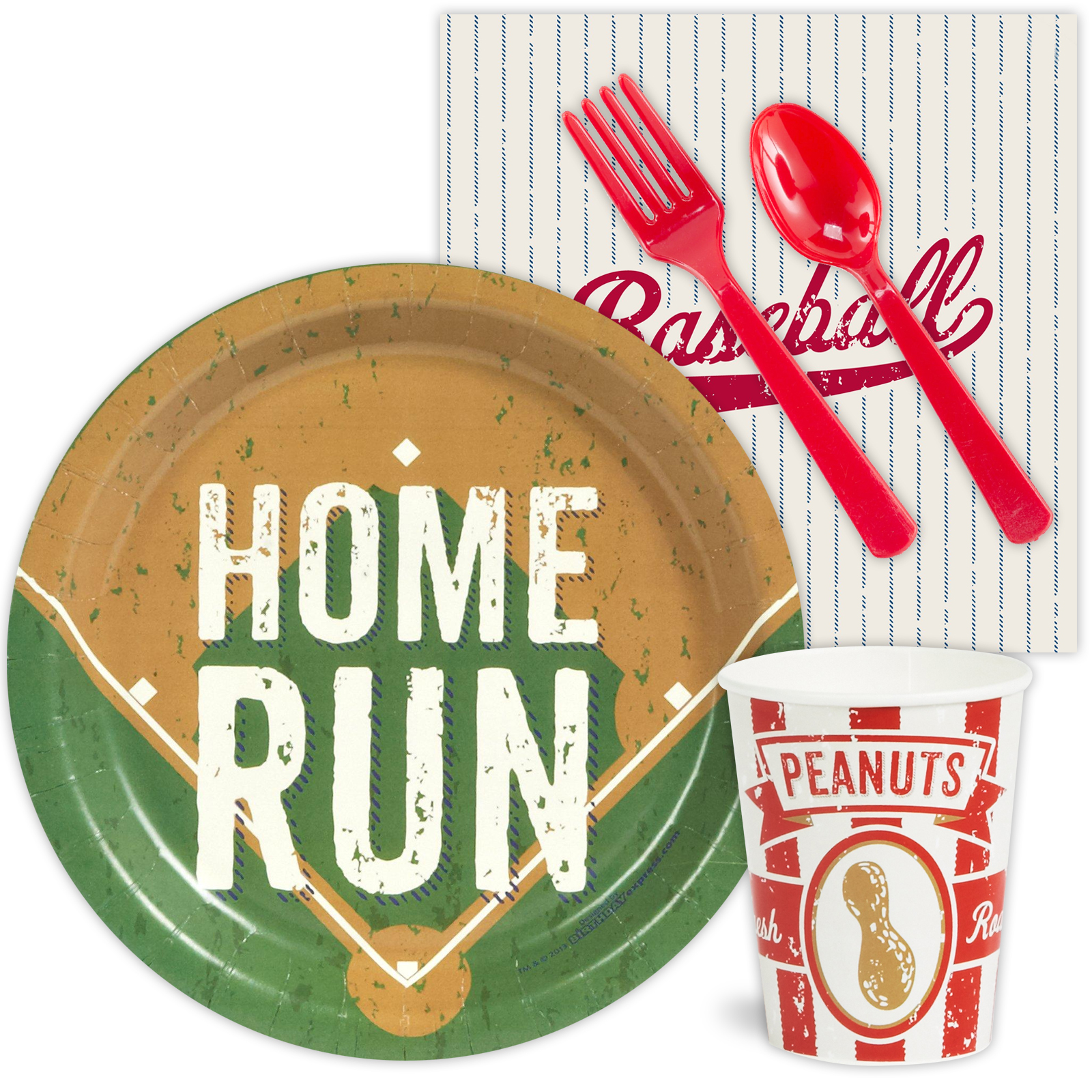 Baseball Standard Tableware Party Supplies Kit BB101308